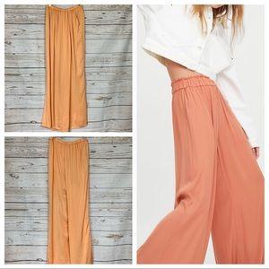 Zara Palazzo Sarong wise leg pants elastic waist